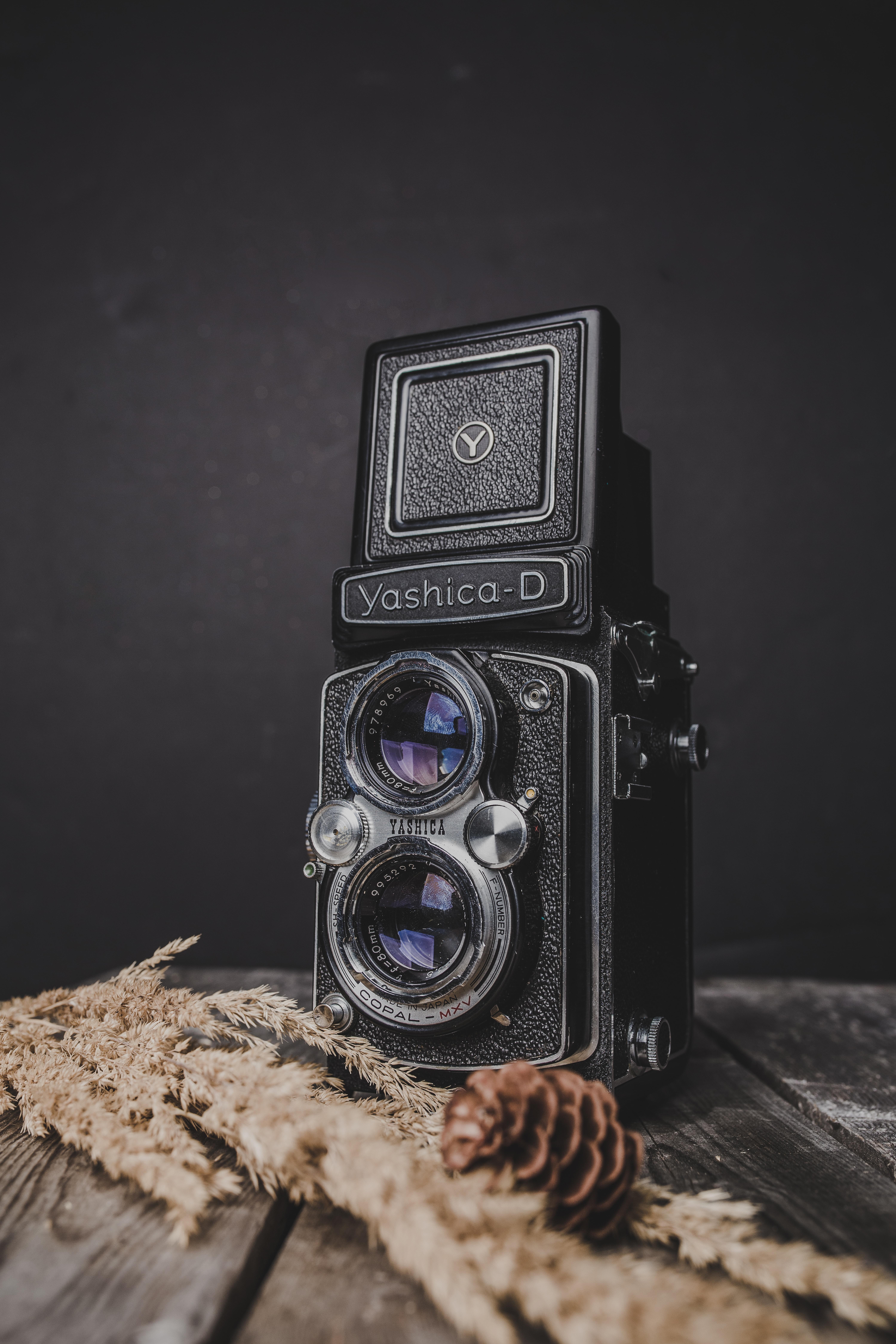 black Yashica-D camera