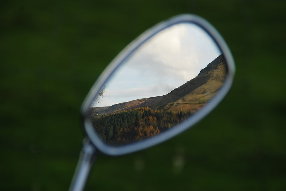 mountain range reflection
