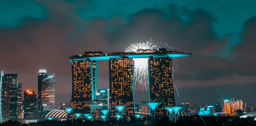 San Marina Bay Sands, Singapore at night time