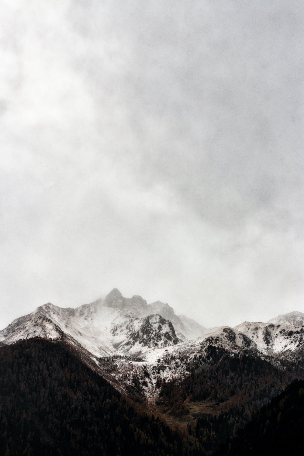 iced cap mountain under gray sky during daytime photography