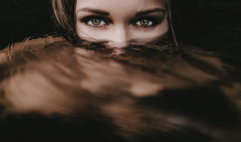 photography of woman's face