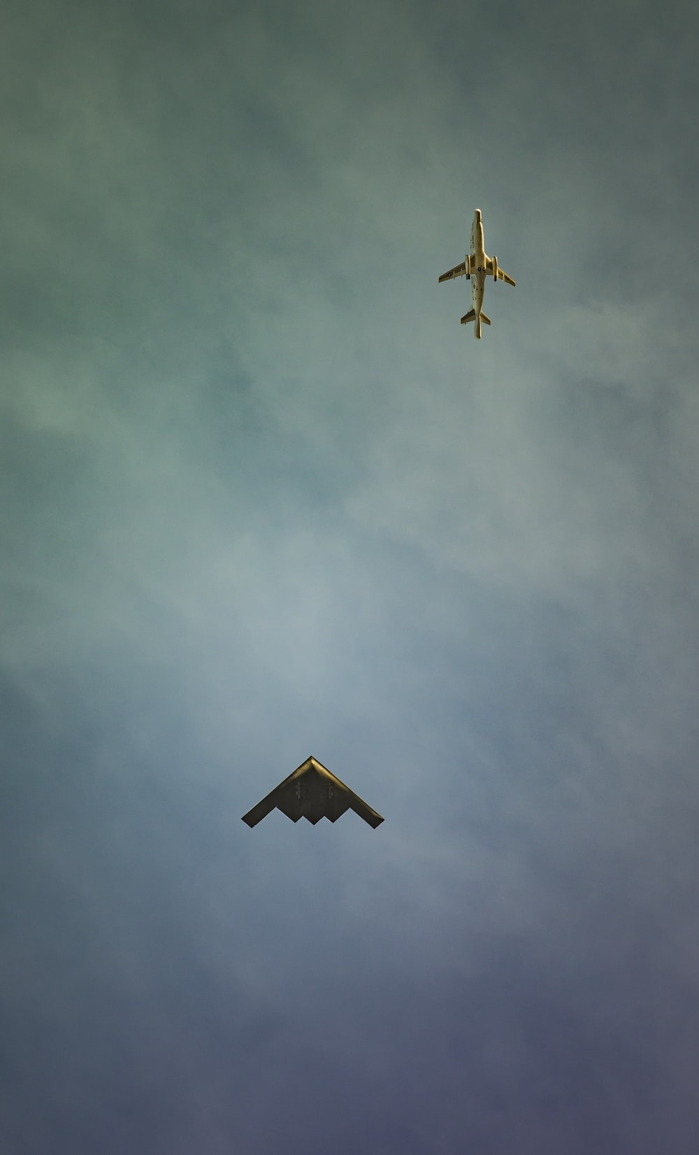 two fighter aircraft on air