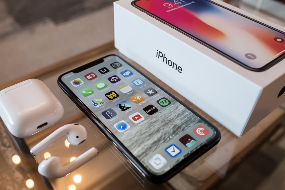 space gray iPhone X with box