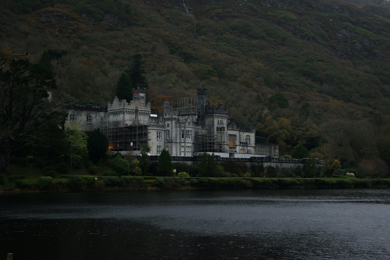 gray castle near body of water