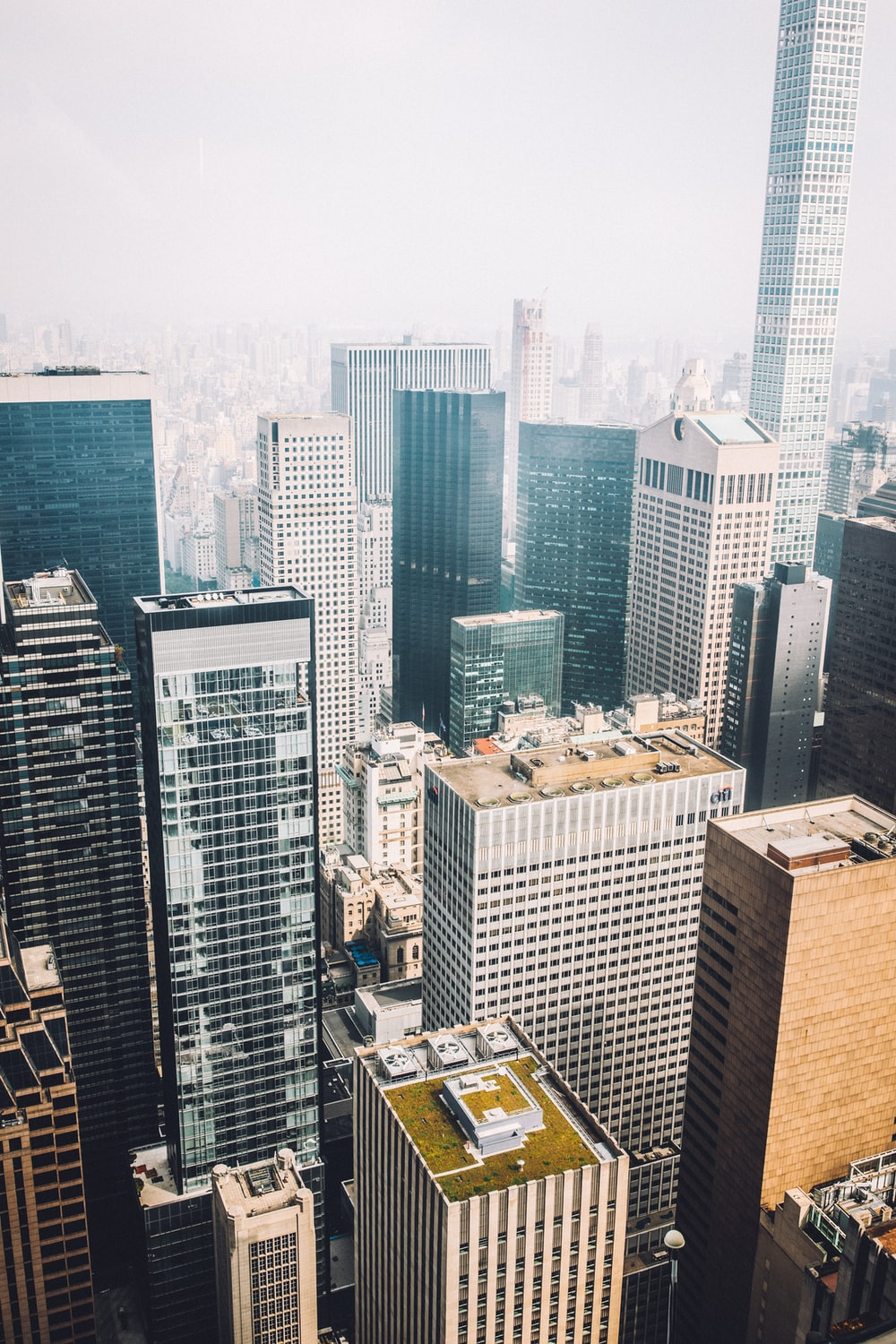 buildings in bird's-eye view photography