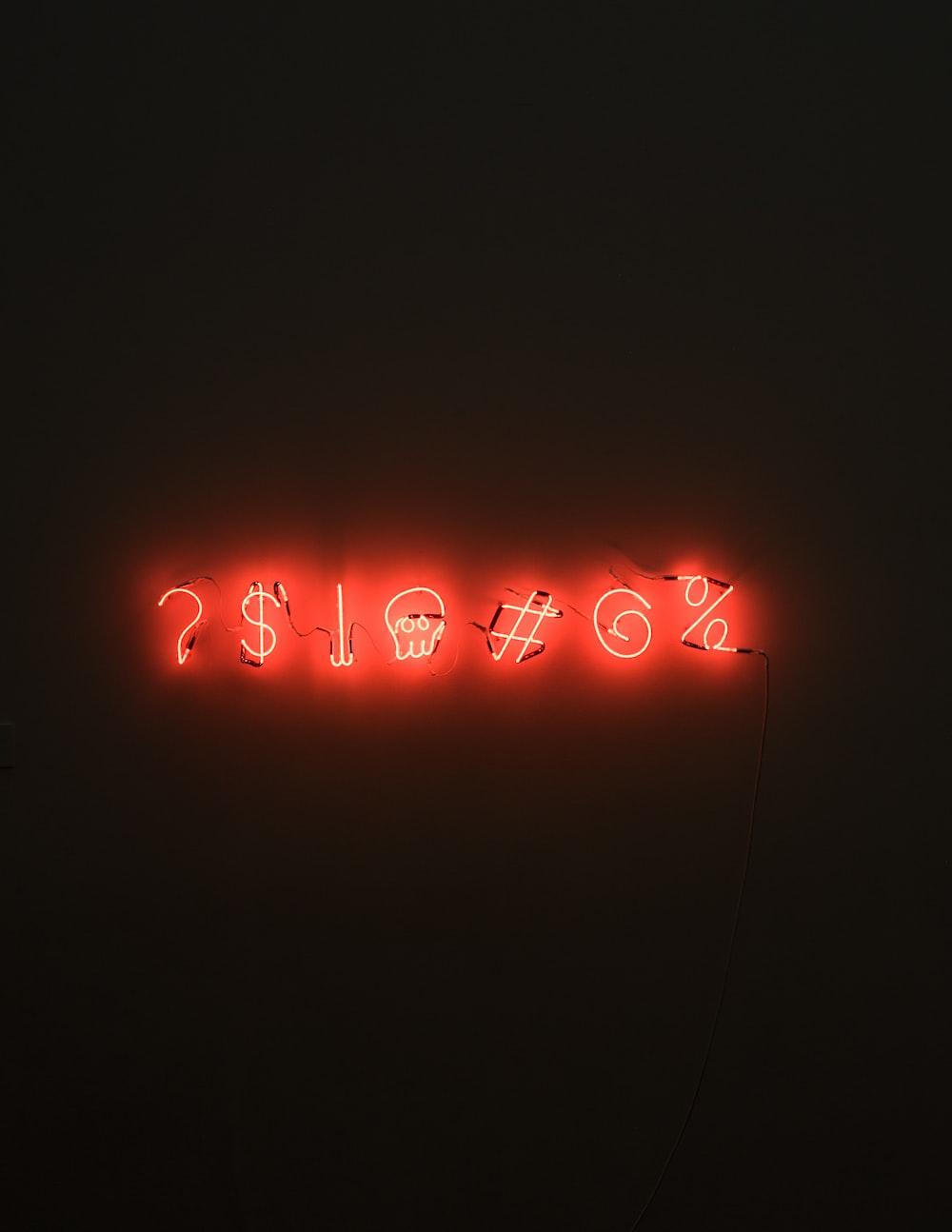 red LED signage
