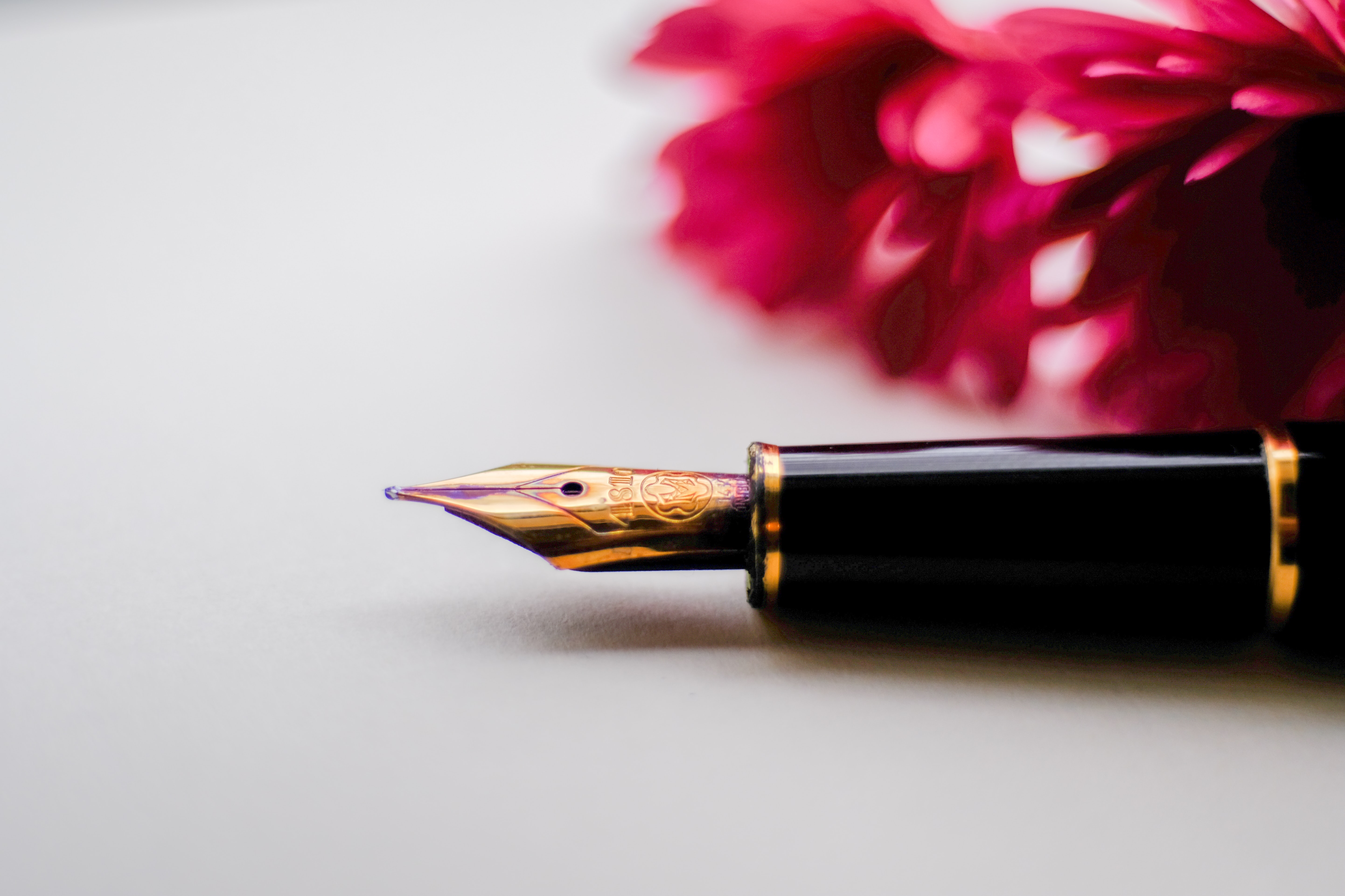 shallow focus photography of fountain pen
