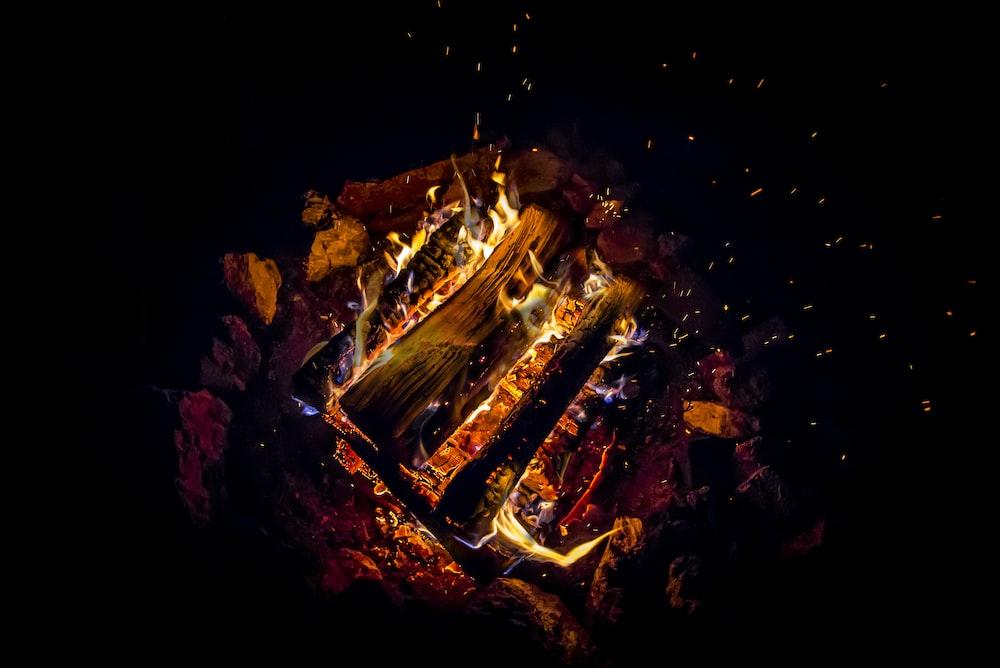 bonfire during nighttime
