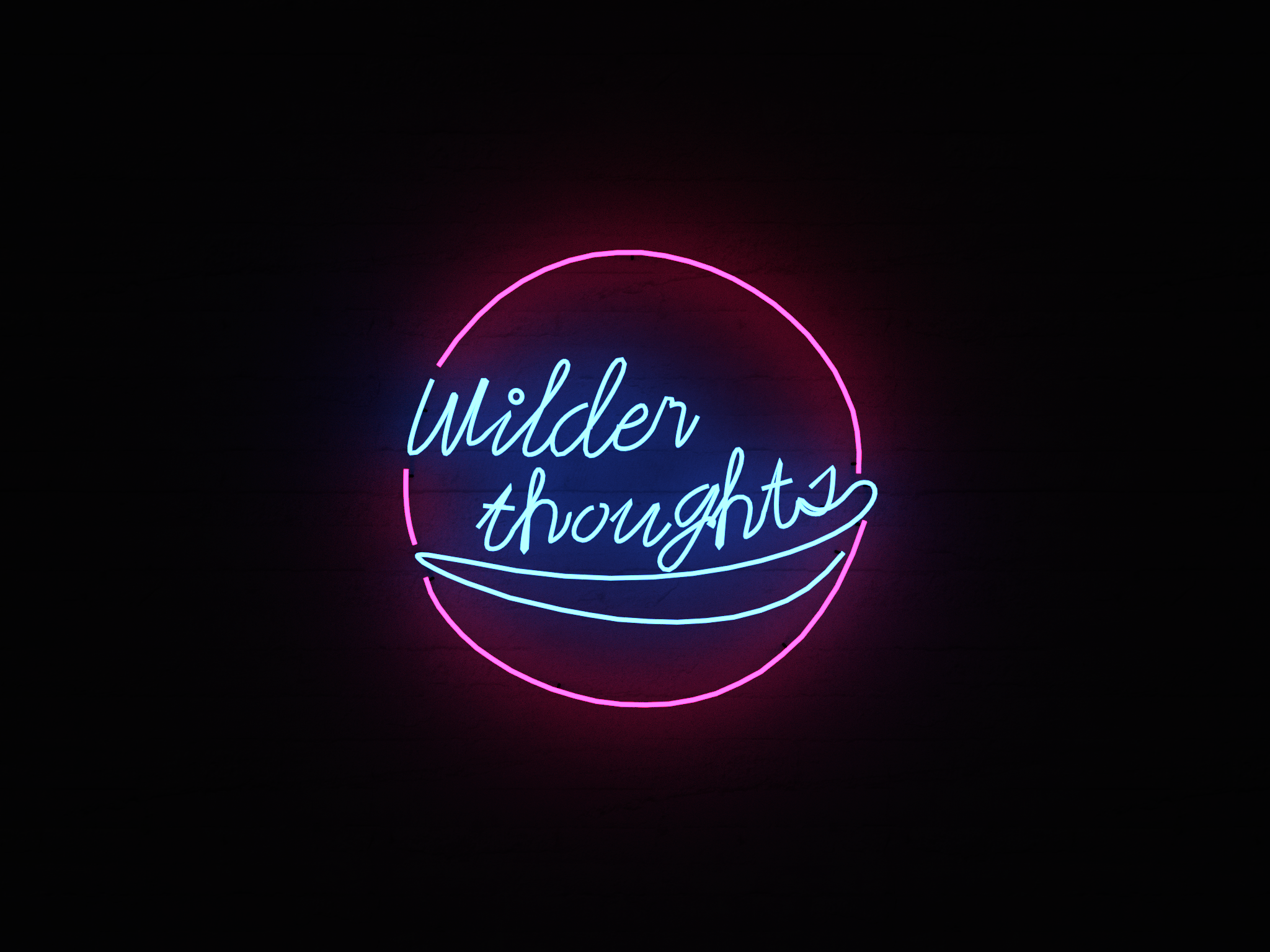Wilder Thoughts Neon sign