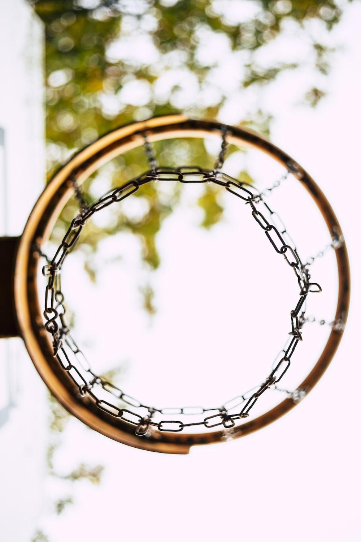 worm's eye view of basketball hoop