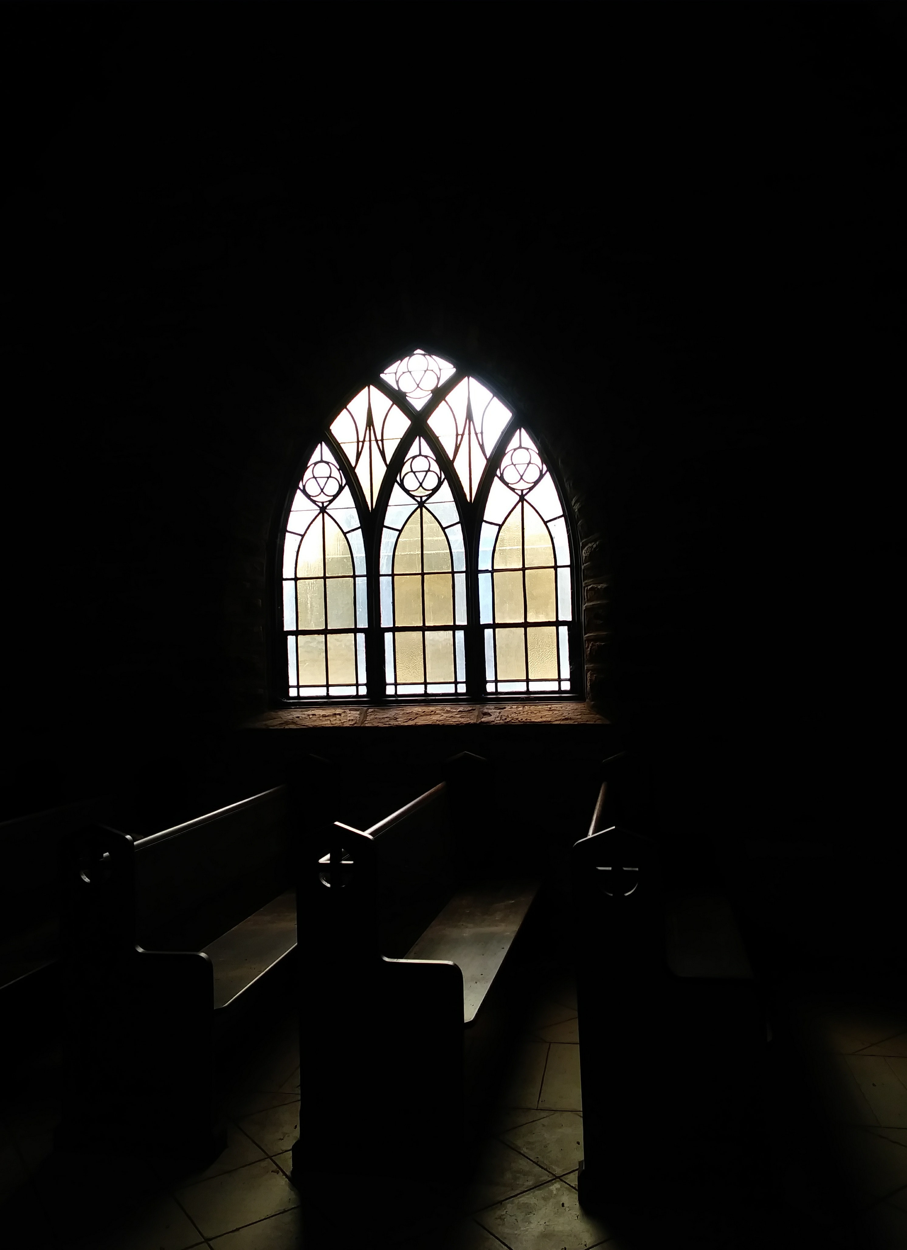 closeup photo of brown wooden pews