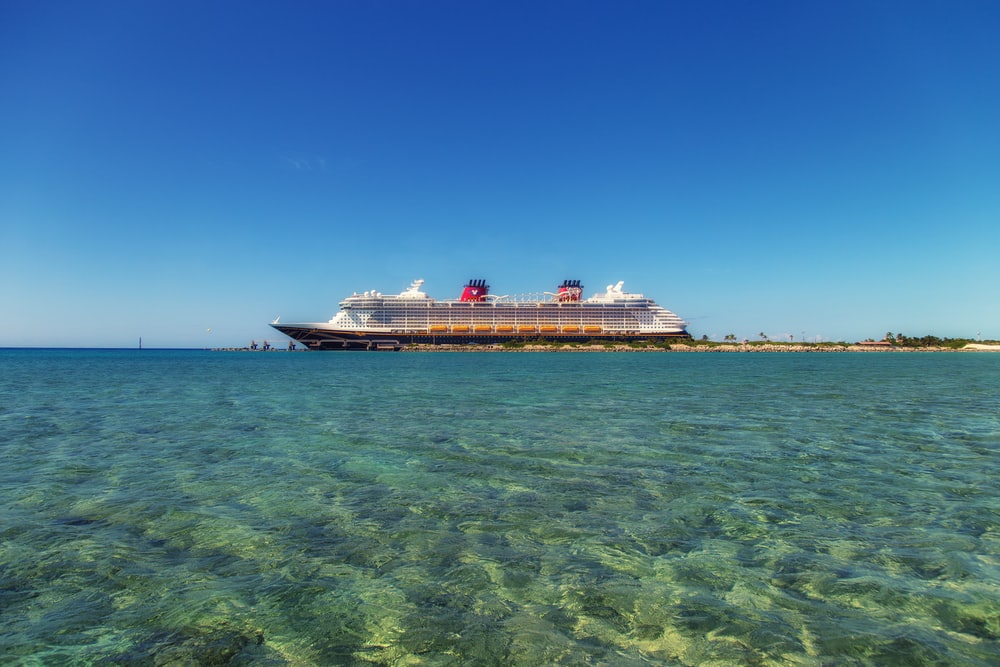 white and black cruise ship on water under the blue sky during daytime
