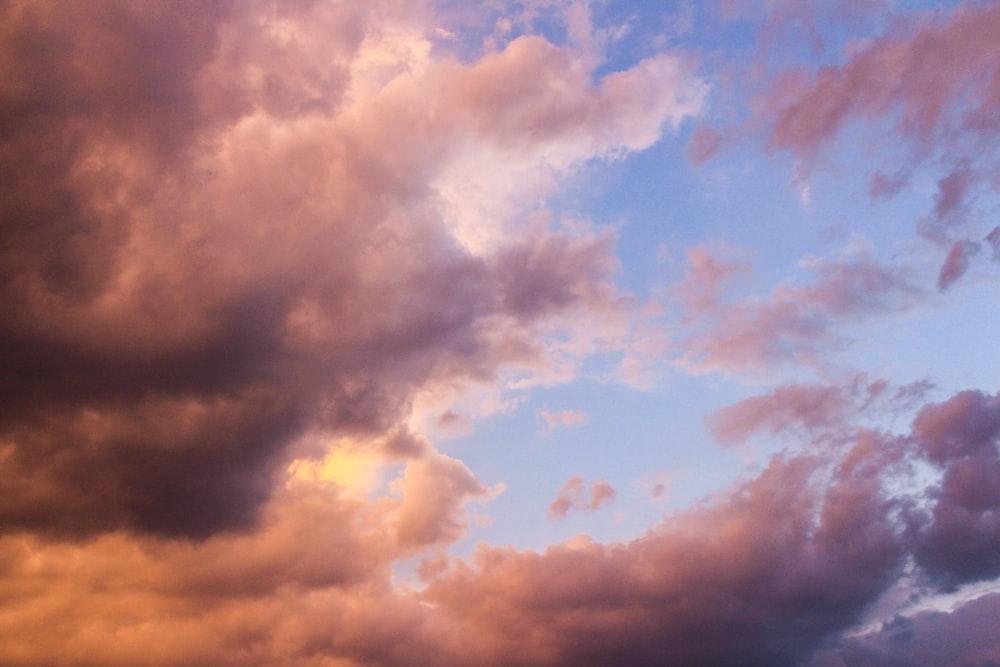 orange and blue cloudy sky