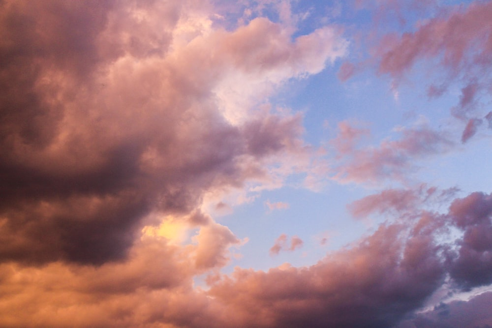 orange and blue cloudy sky