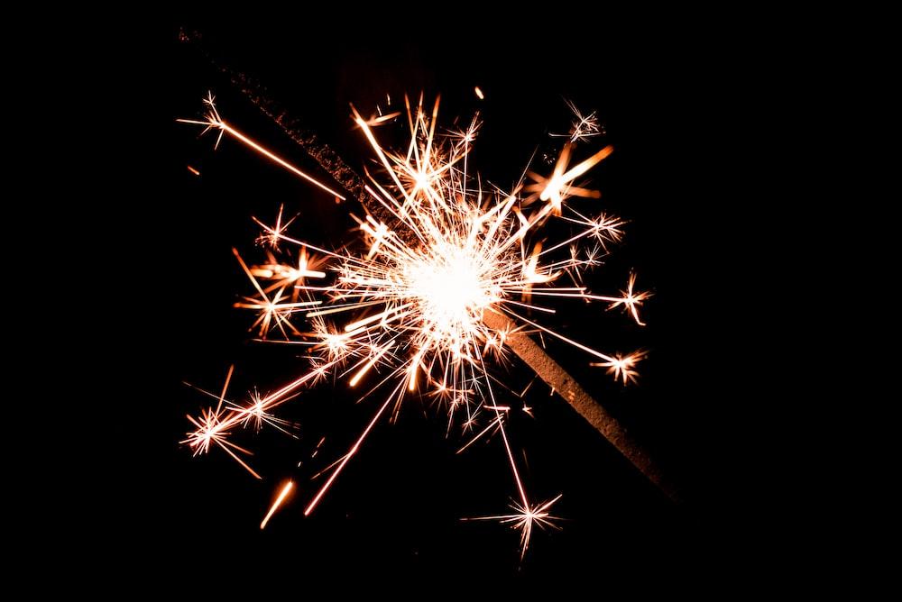 macro photo of sparkler