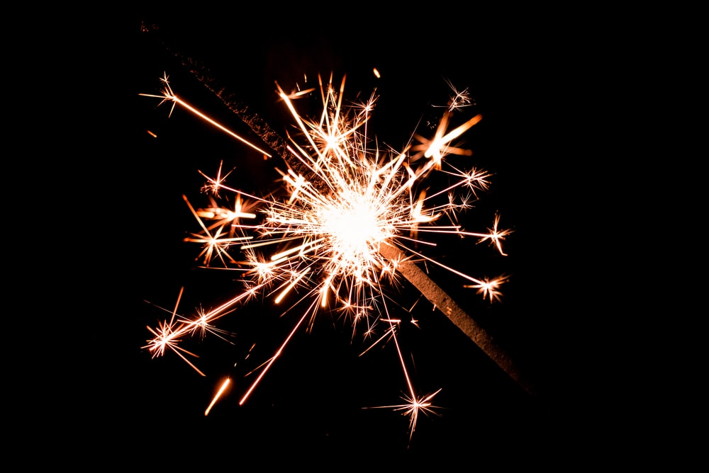 macro photo of sparkler