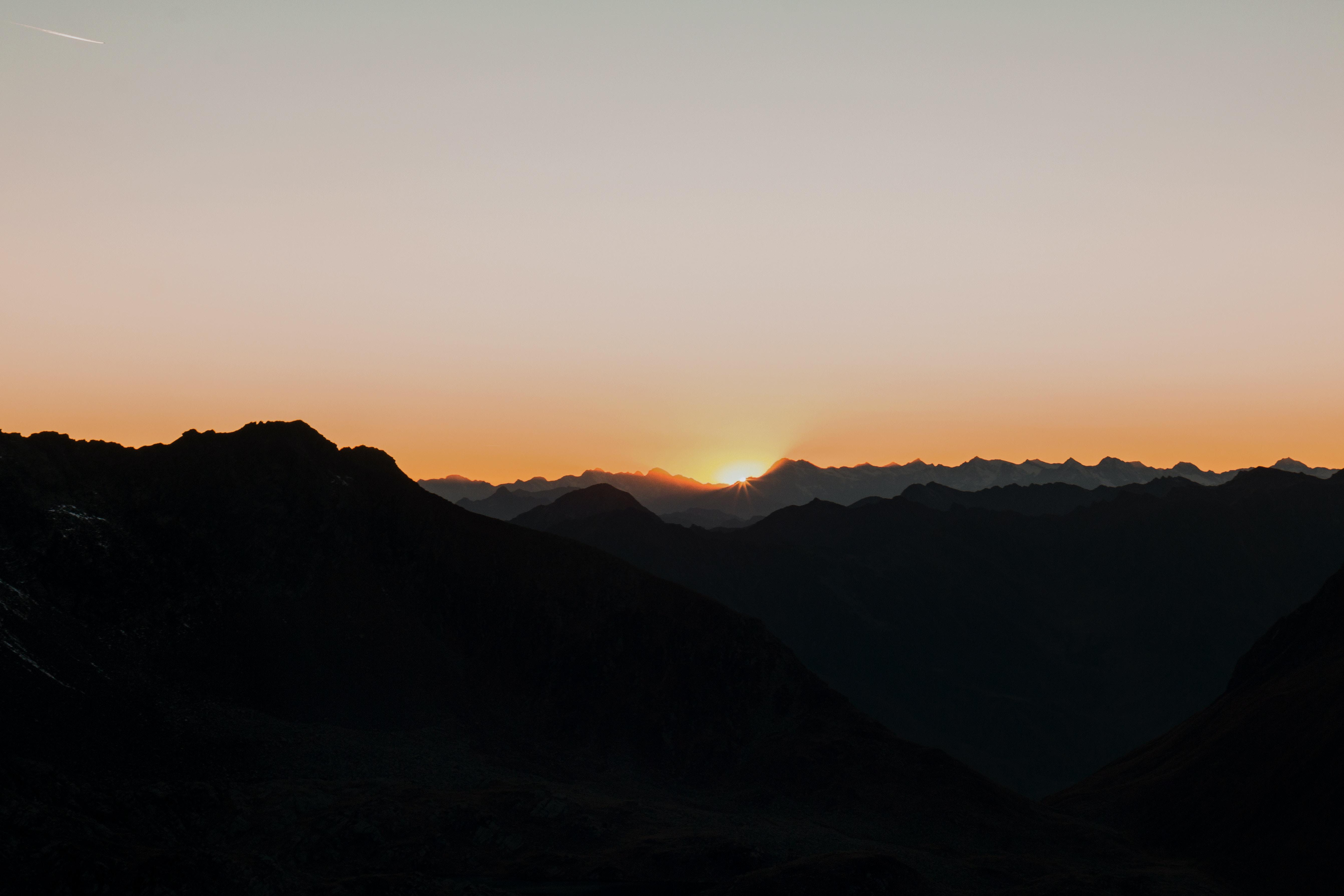 bird eye view photography of golden hour