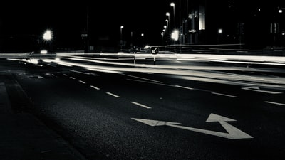 timelapse photography of cars on road dublin zoom background