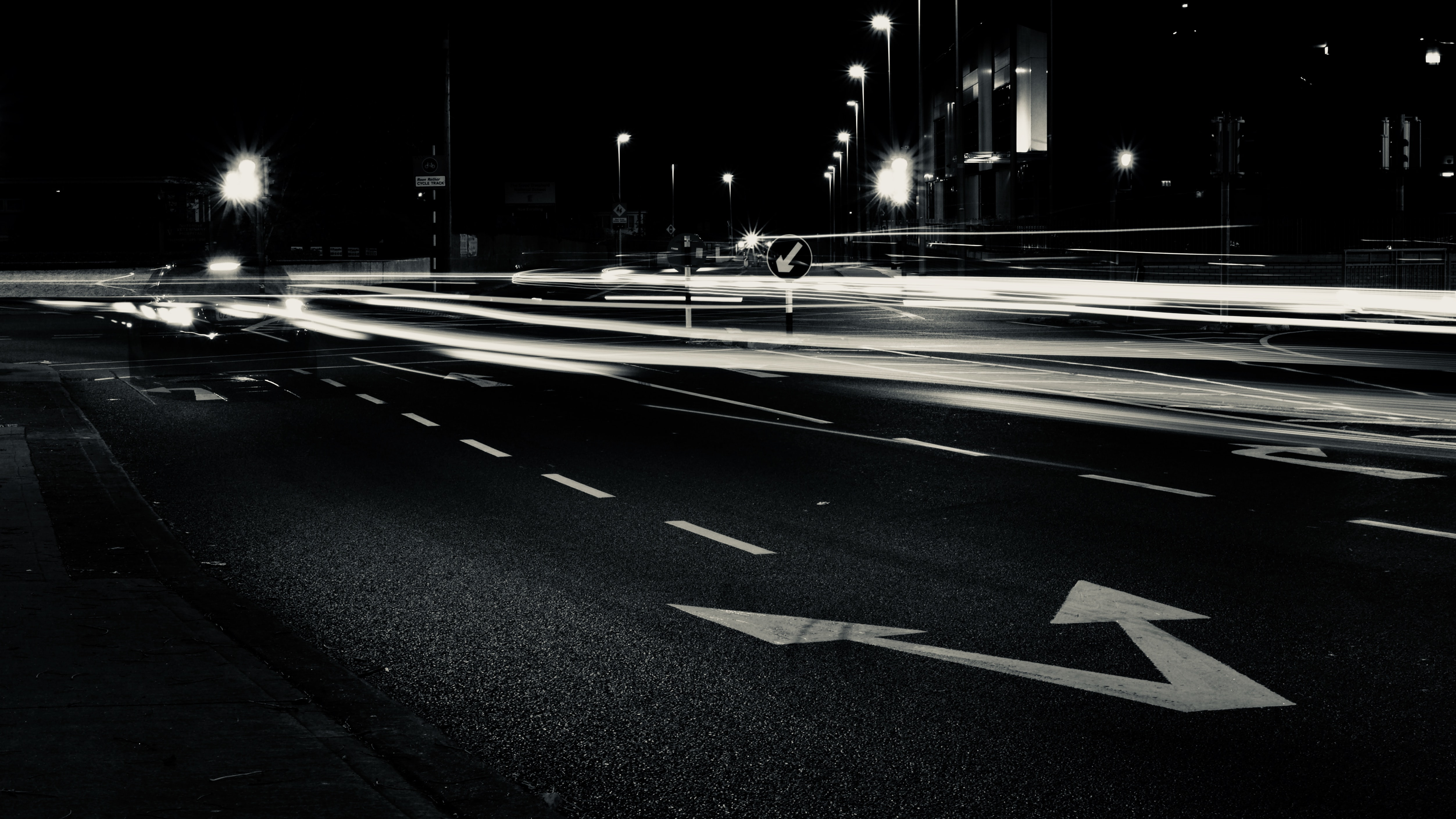timelapse photography of cars on road