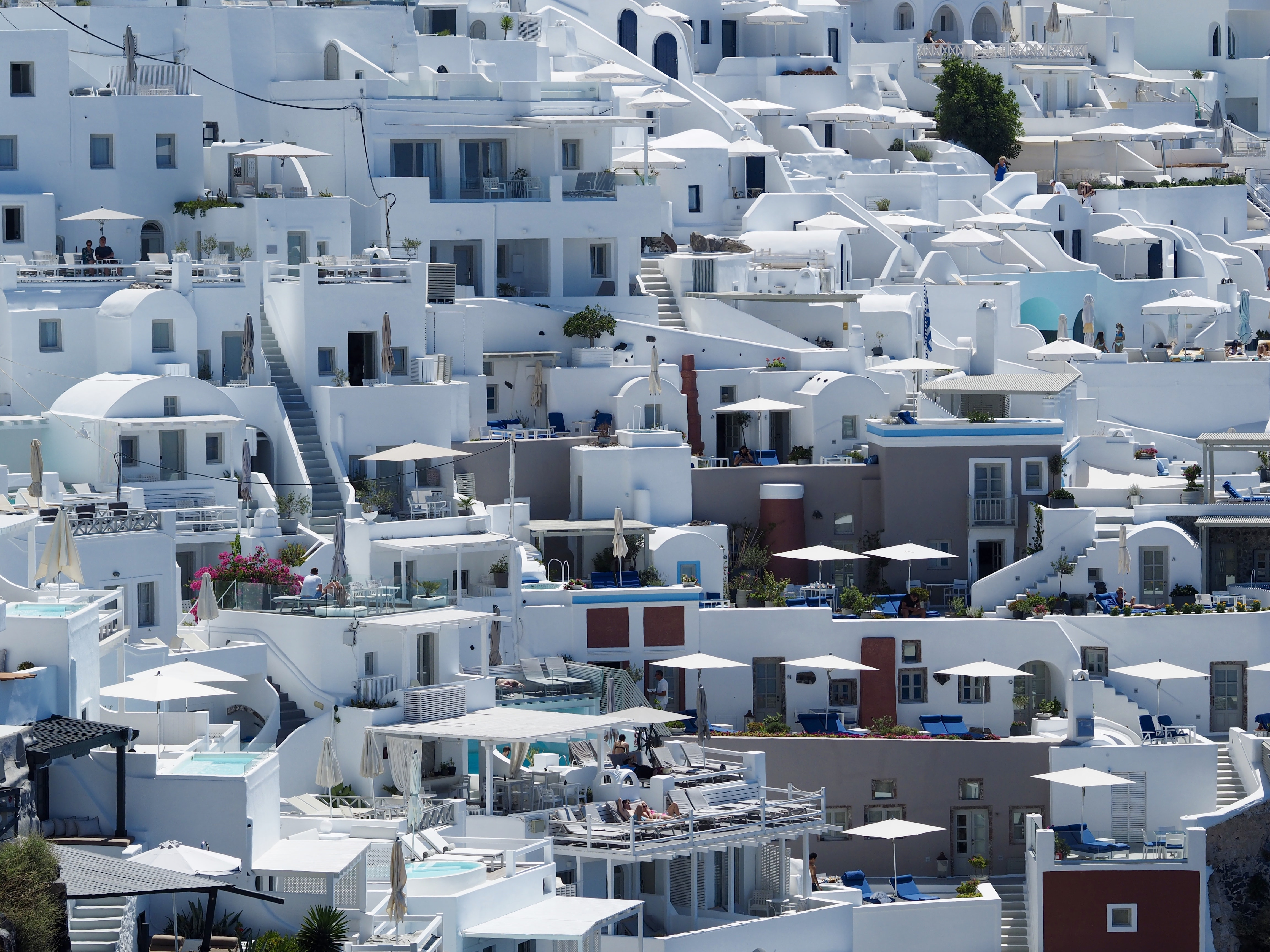 aerial photography of white concrete houses