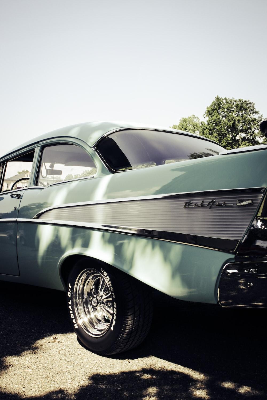 classic teal car