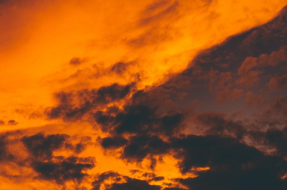 orange and white sky