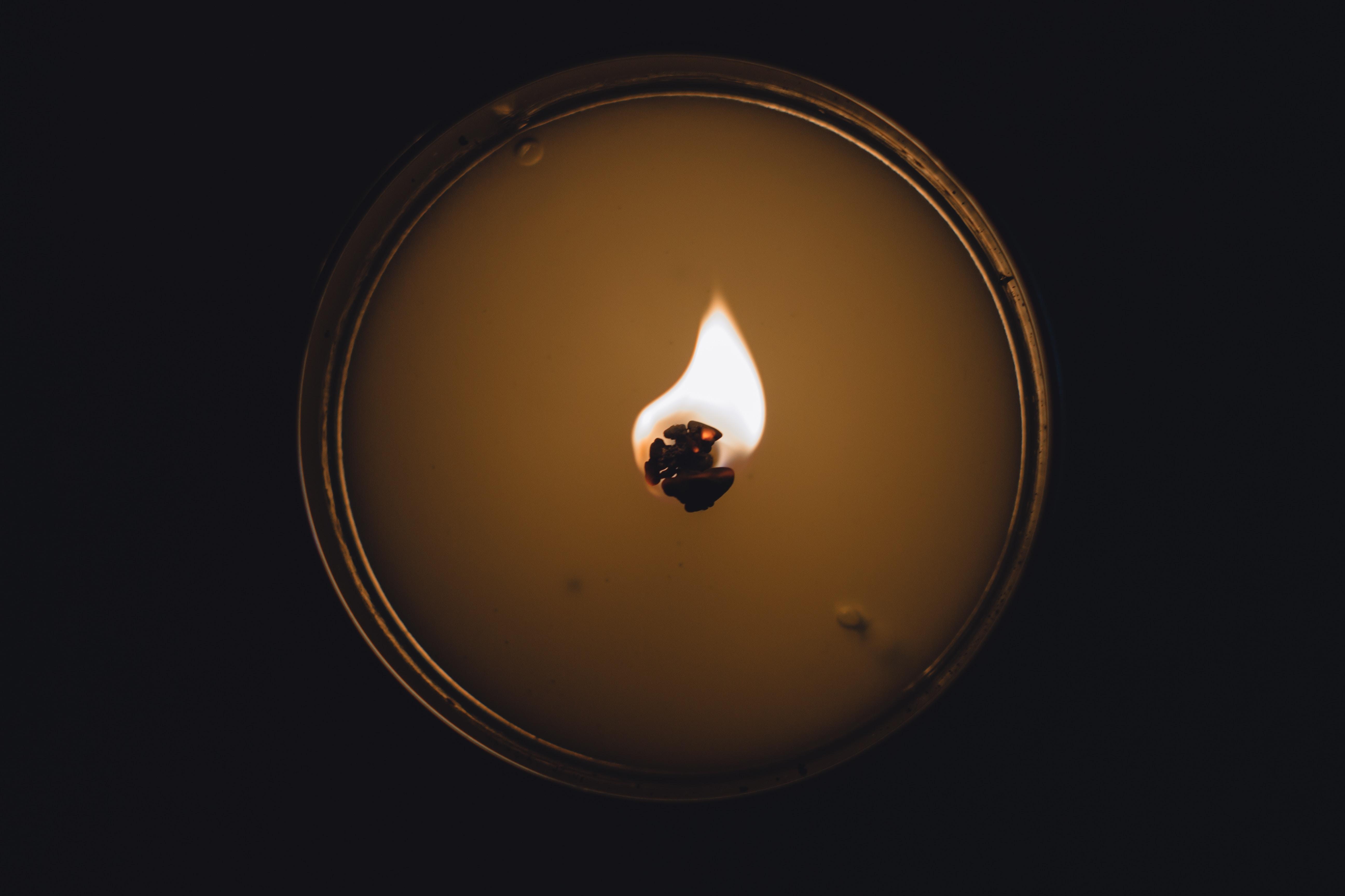burning candle photography