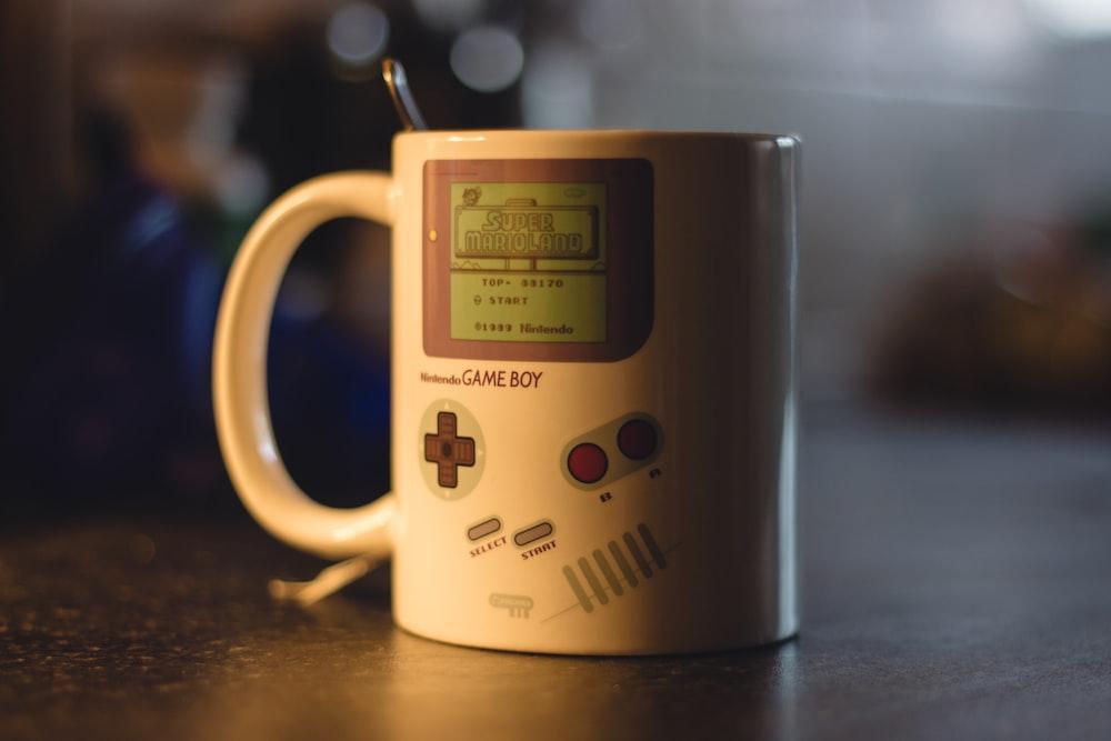 Nintendo Game Boy-themed ceramic mug