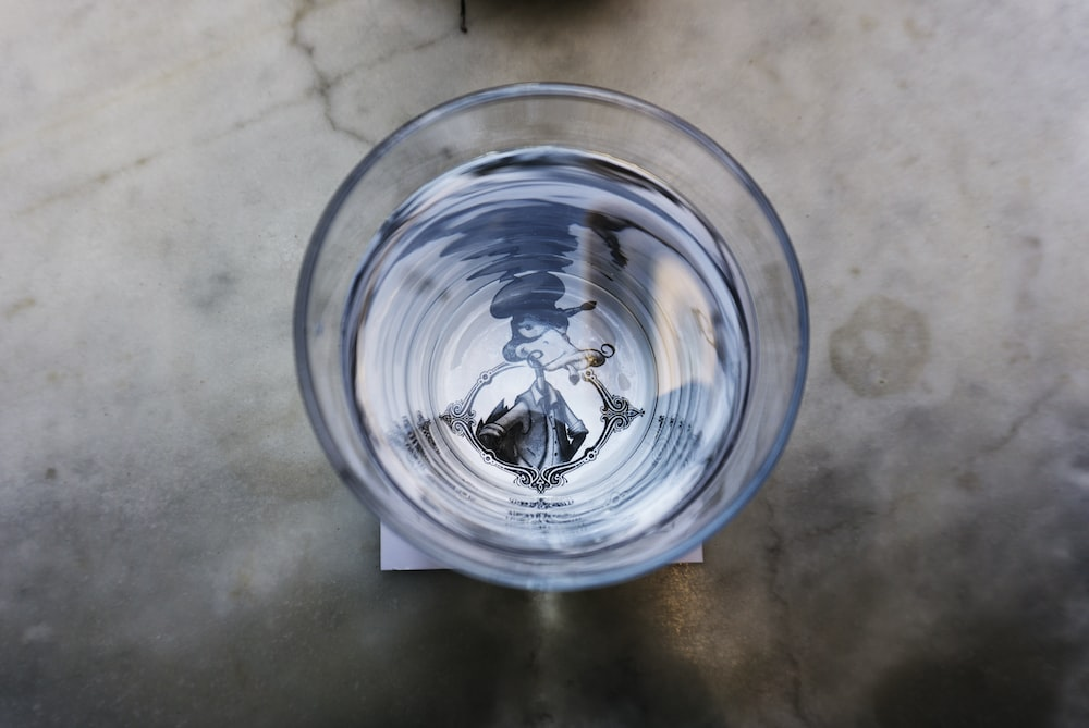 photo of drinking glass full of water