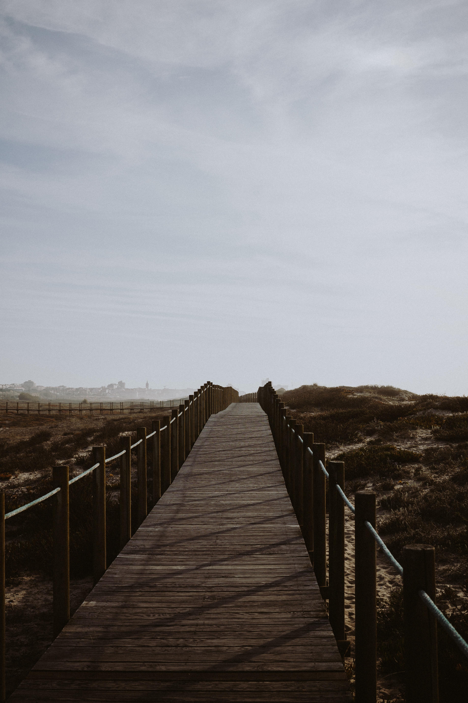 brown wooden road