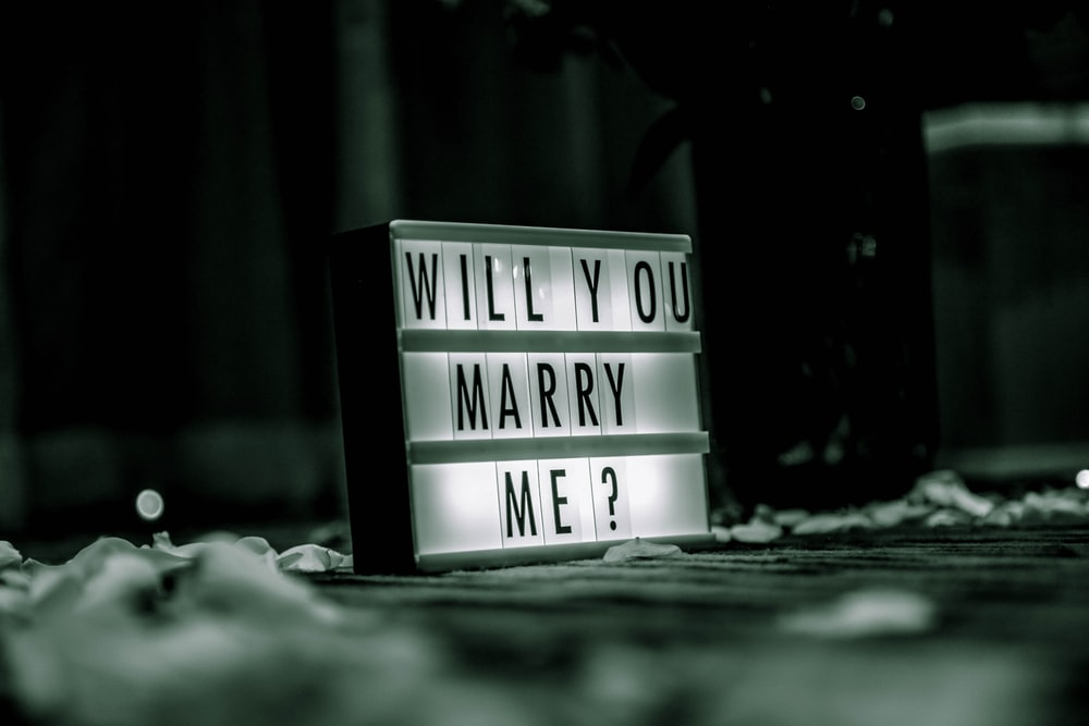 Will You Marry Me ? signage