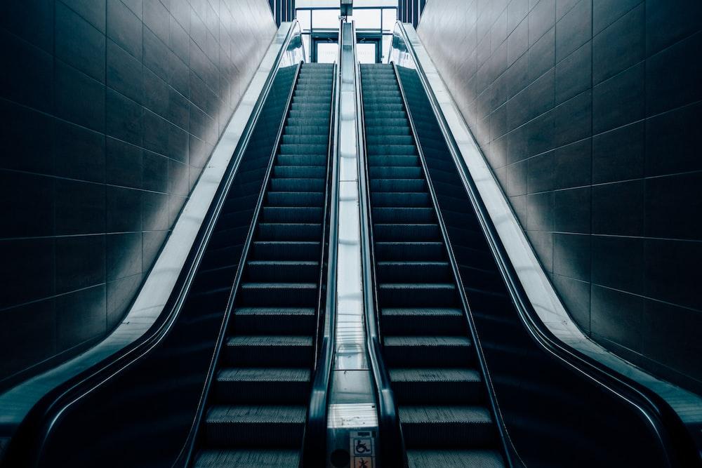 architectural photo of escalator