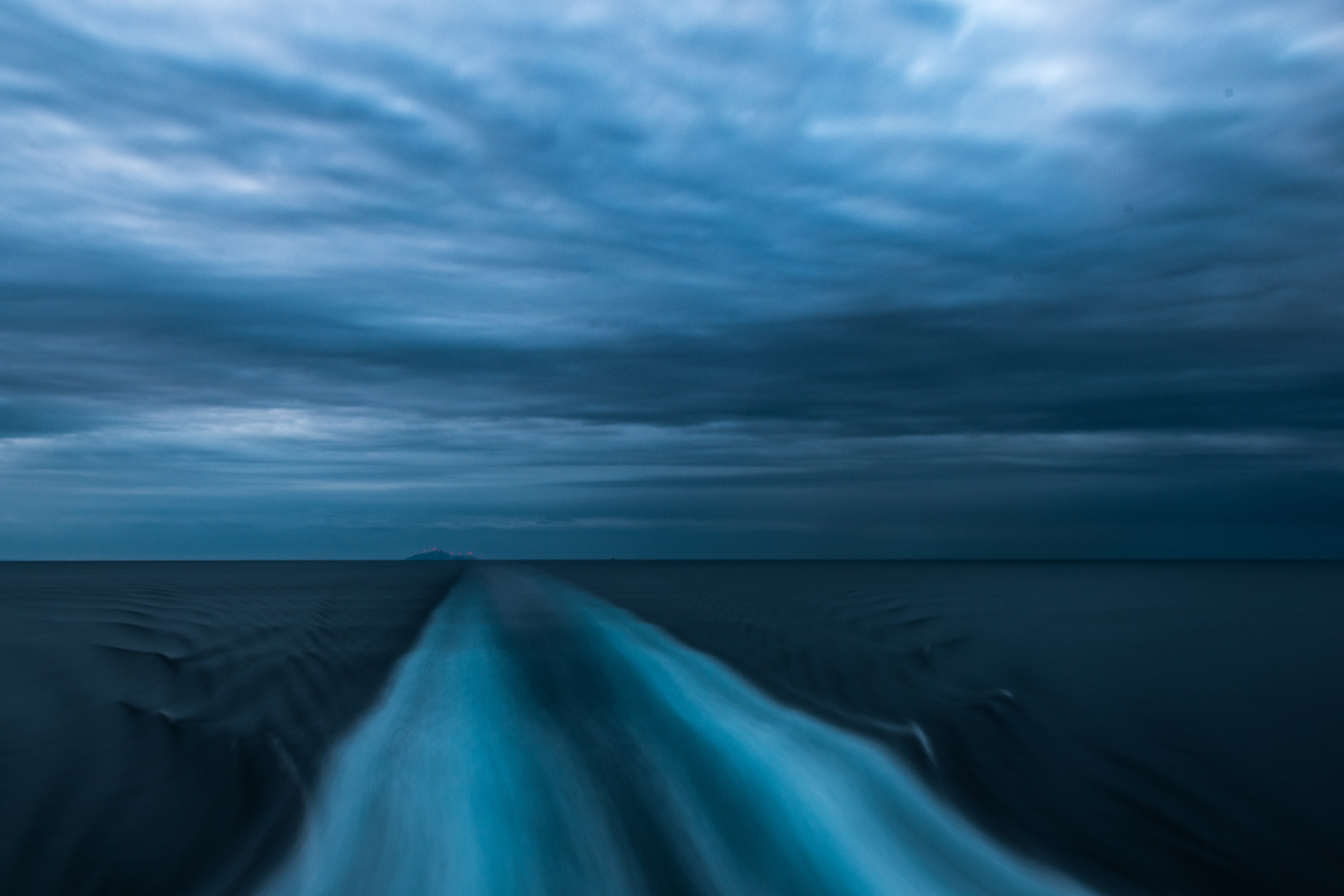 timelapse photography of sea