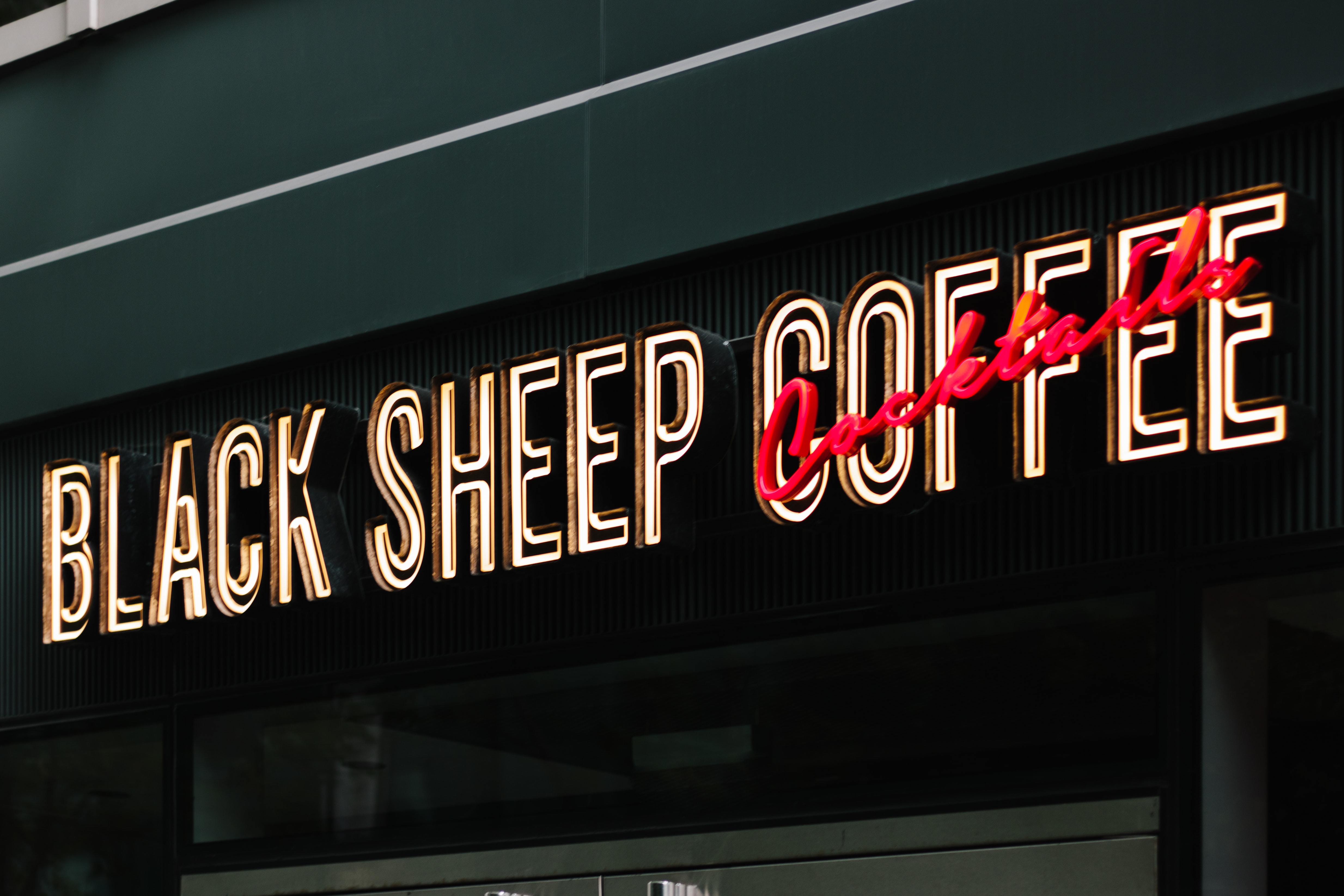 Black Sheep Coffee Neon sign