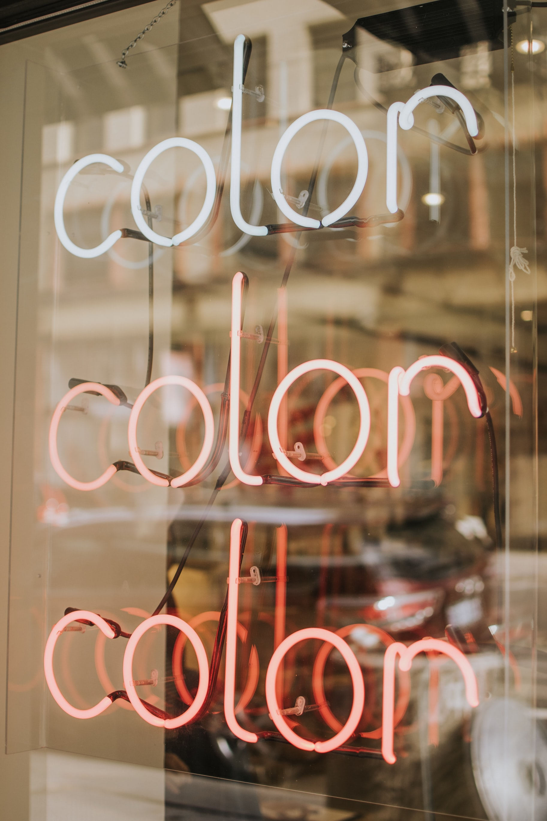 white Color LED light signage