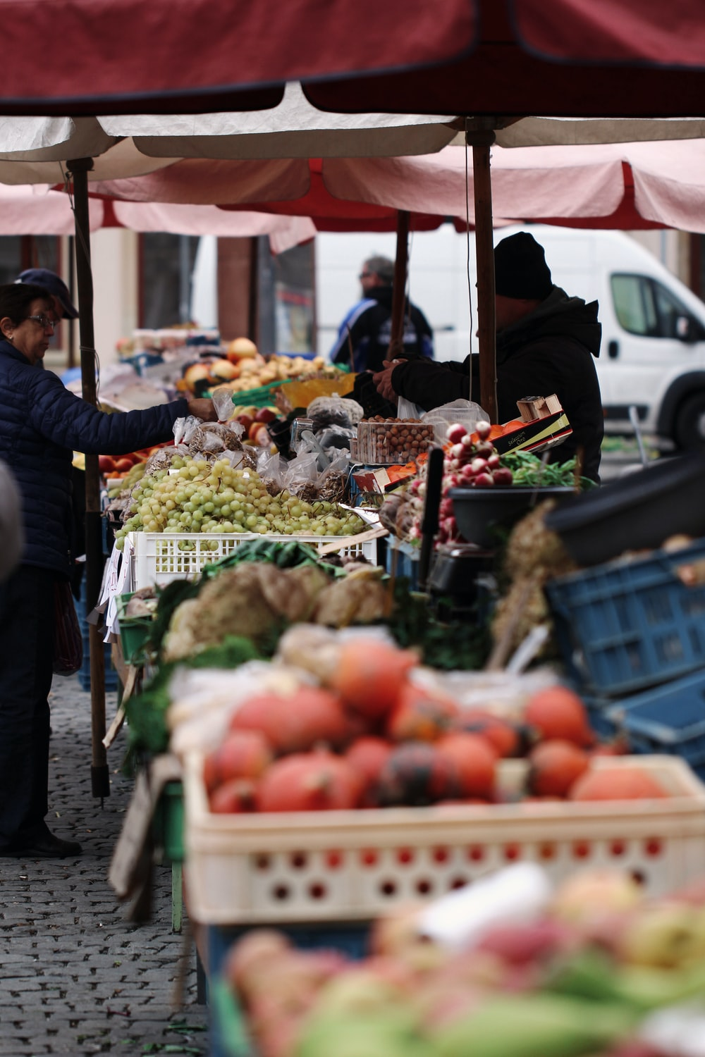 person in black jacket holding fruit during daytime