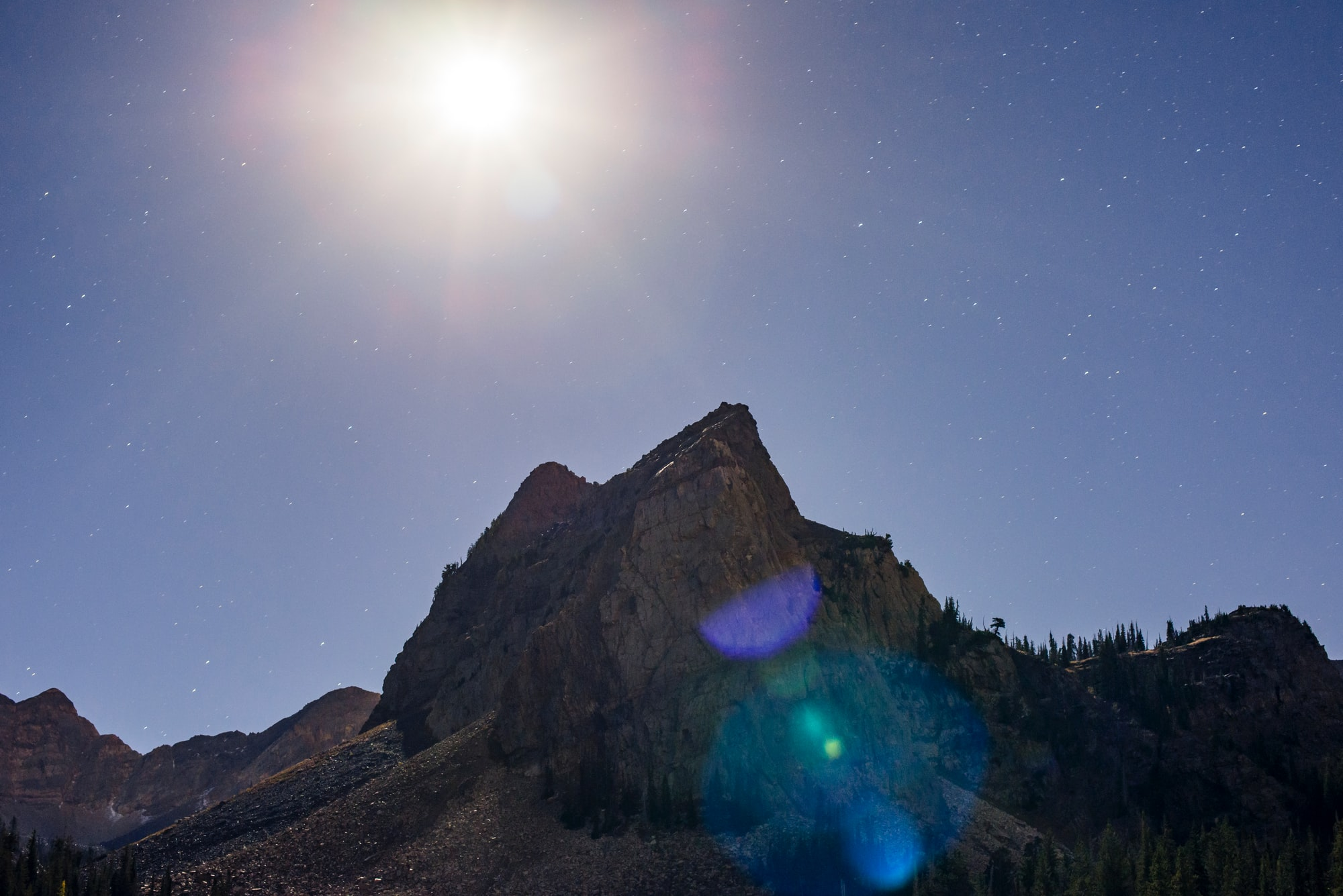 I hiked up to Lake Blanch in Big Cottonwood Canyon with a guy named Eric I'd met on Instagram to photograph lake Blanche at night and we got some pretty great shots from that trip. It was a full moon, we hiked with out headlamps almost the entire way.