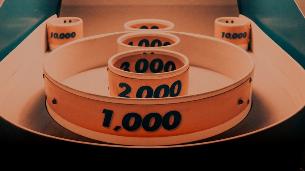 white rings with embossed numbers