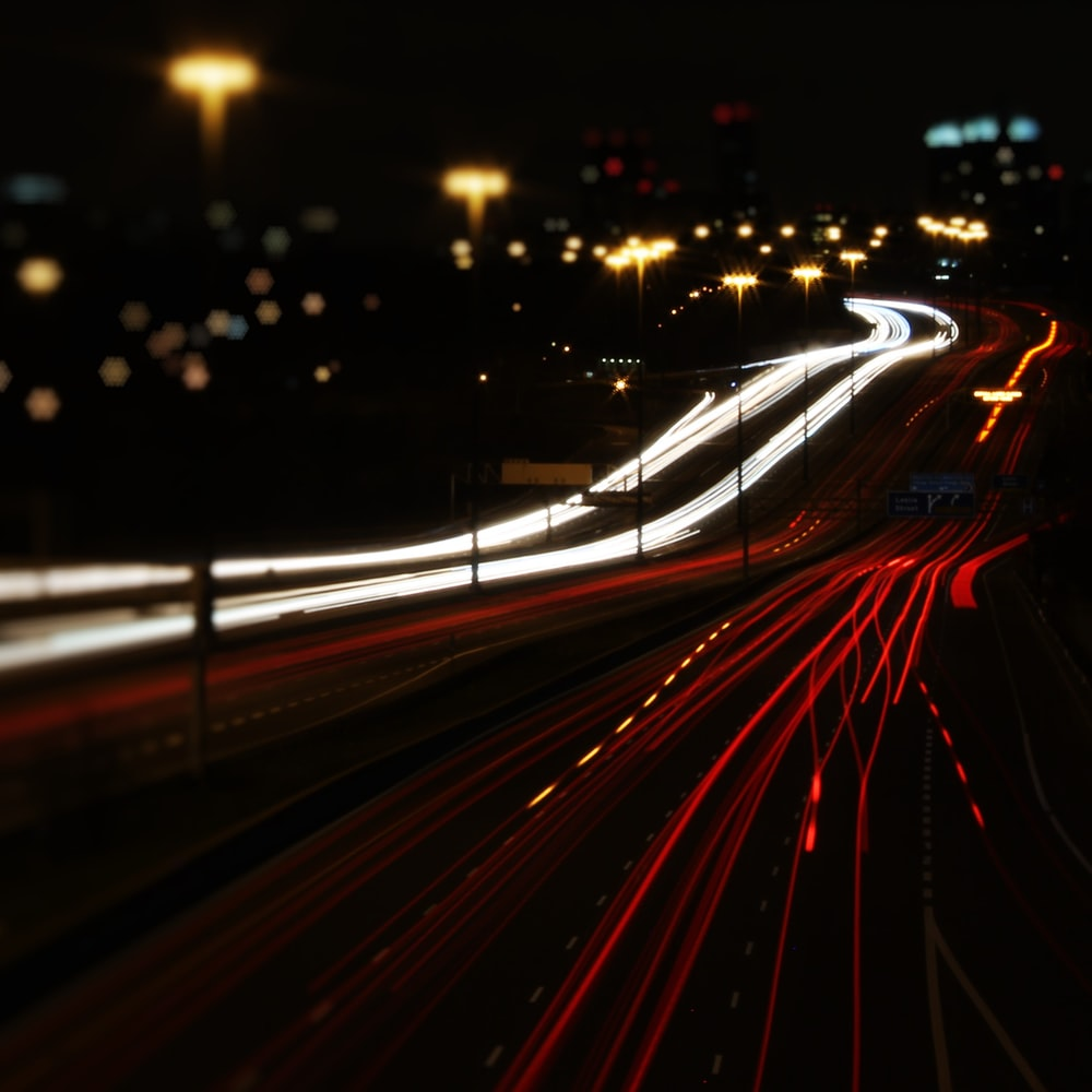 time lapse photography of cars during nighttime