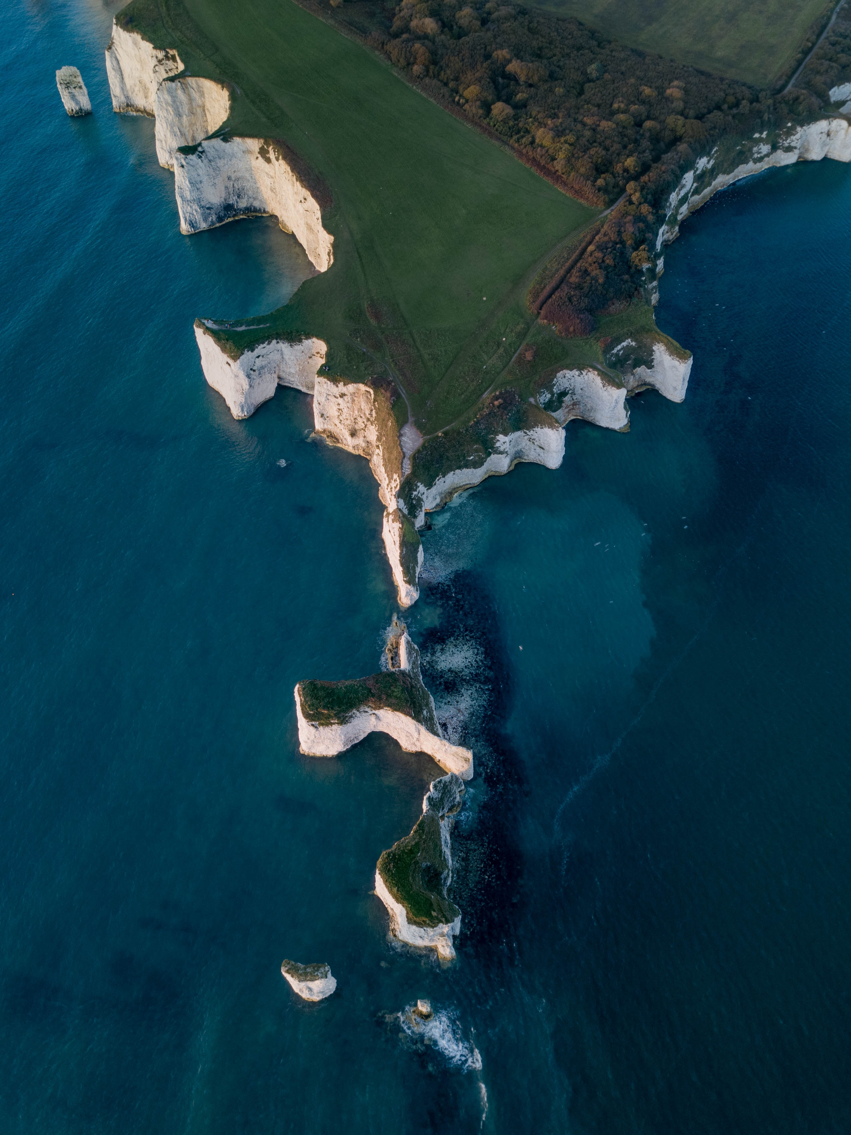 bird's eye view photography of islet