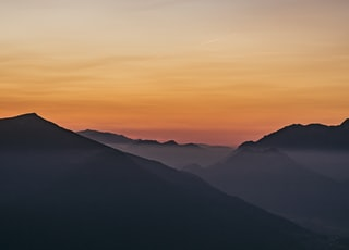 aerial view of sunset