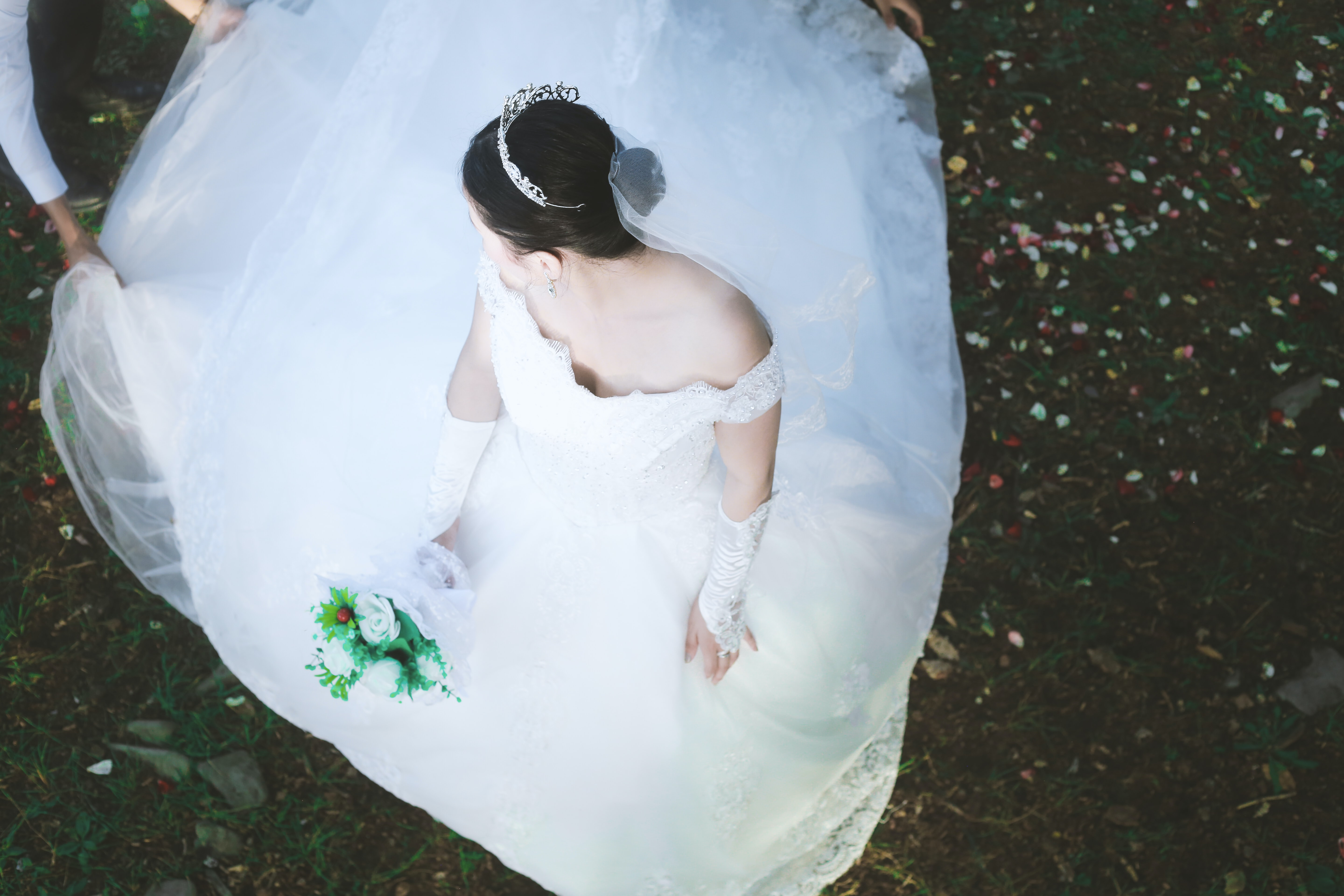photography of woman in wedding dress