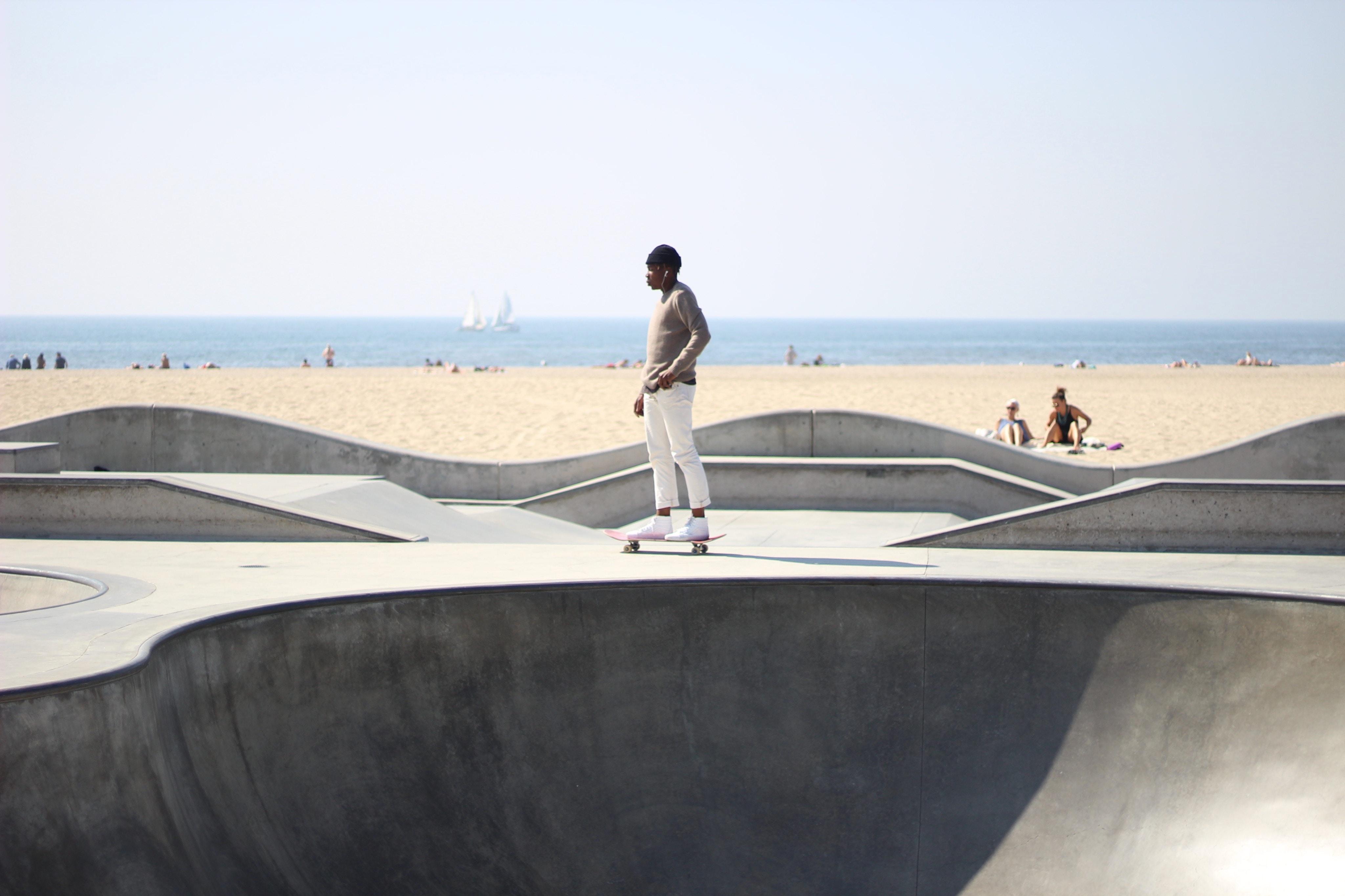 man skateboarding