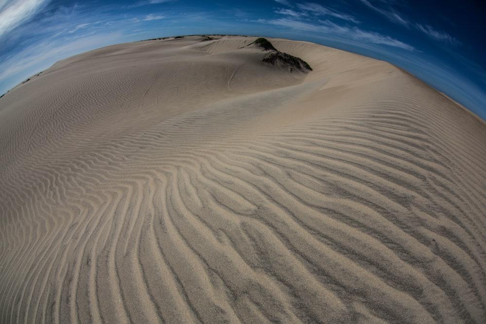 fish eye photography of desert
