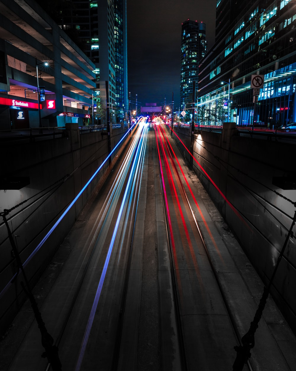 time lapse photography of city roads]