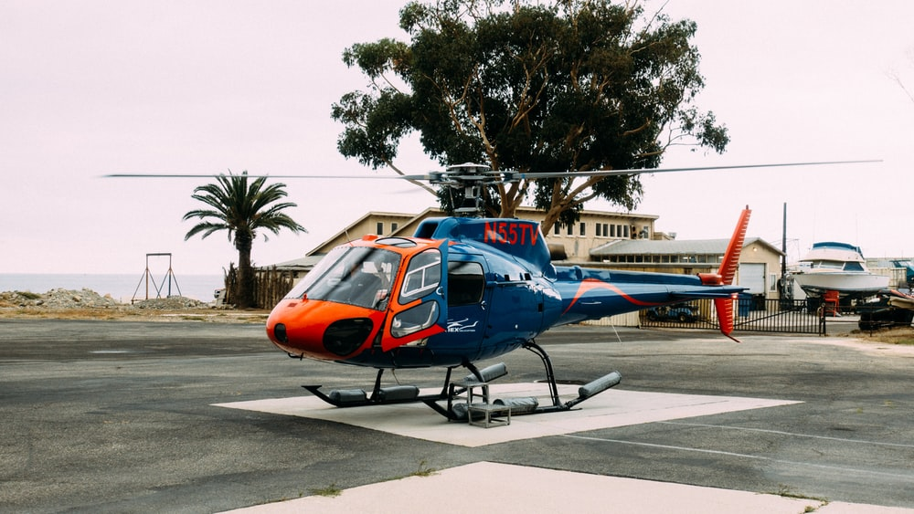 photography of helicopter
