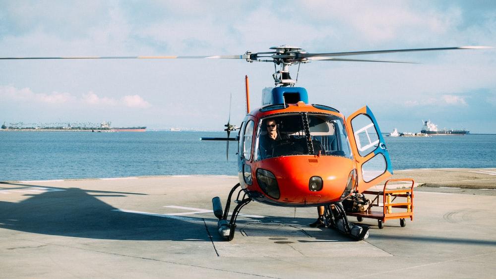 orange helicopter