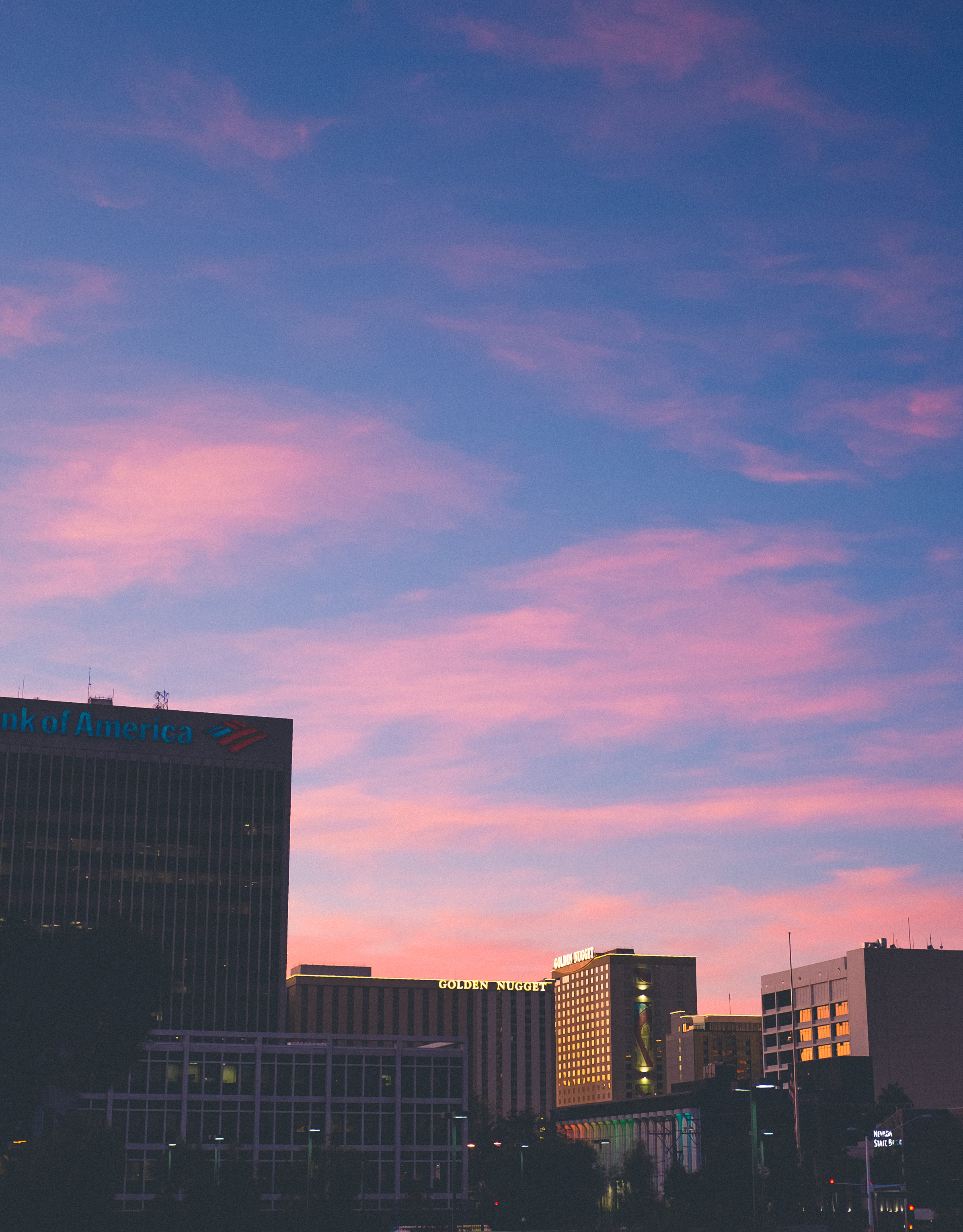 End of the workday. I stepped outside Kenny and Kurt's office (balcony) and snapped this cotton candy wonder.