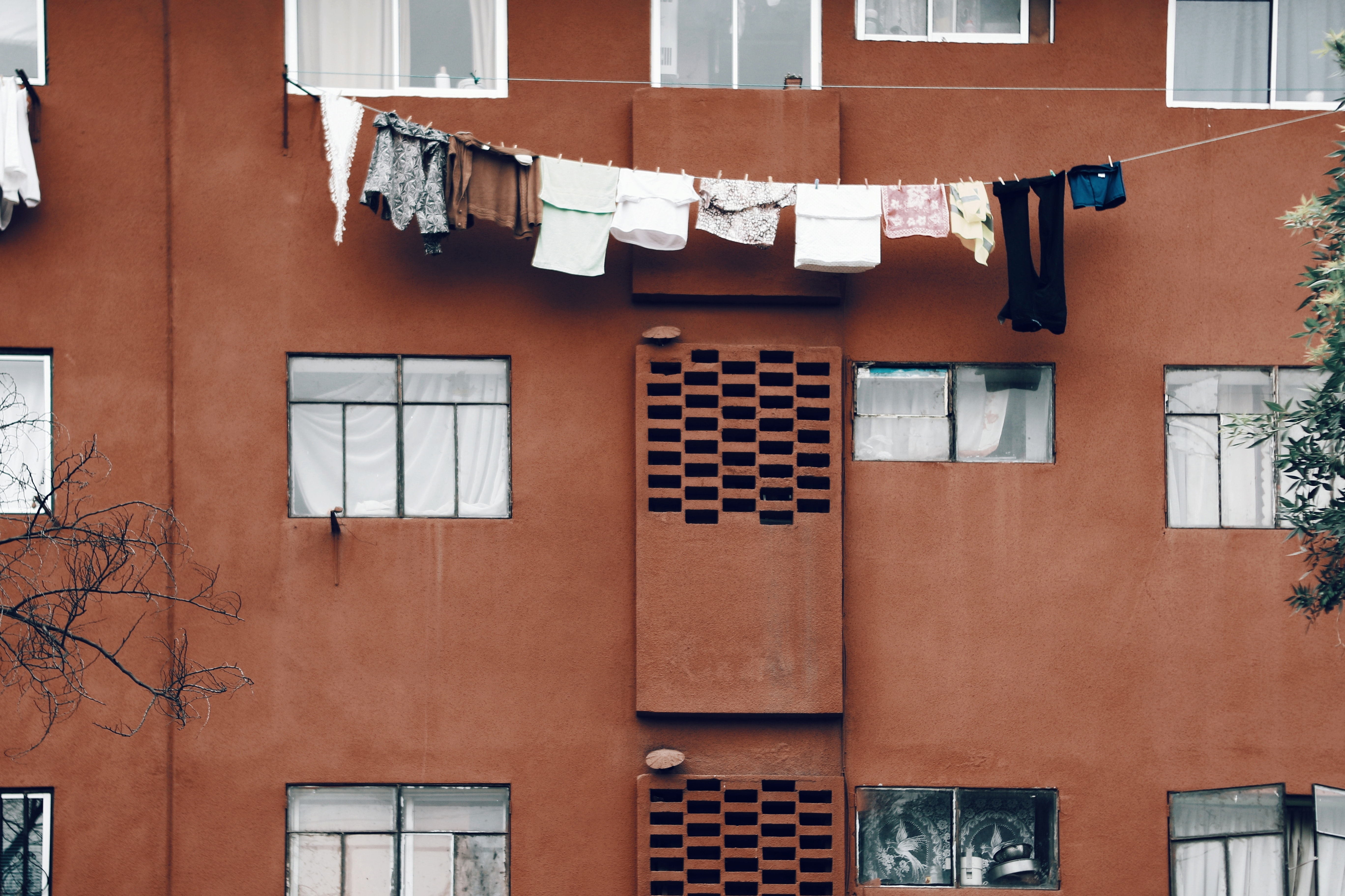 clothes hanging during daytime