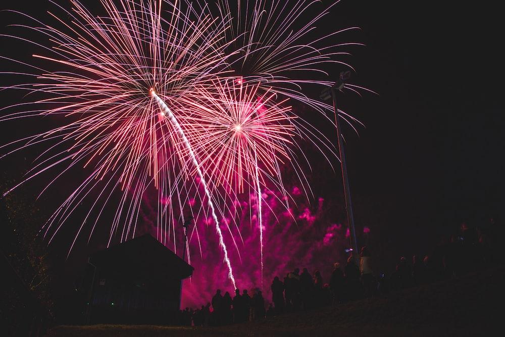 pink fireworks display